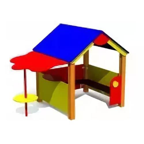 Домик с навесом СКИ 127 для игровой площадки