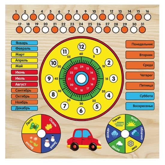 Календарь с часами: Машинка ИГ0199