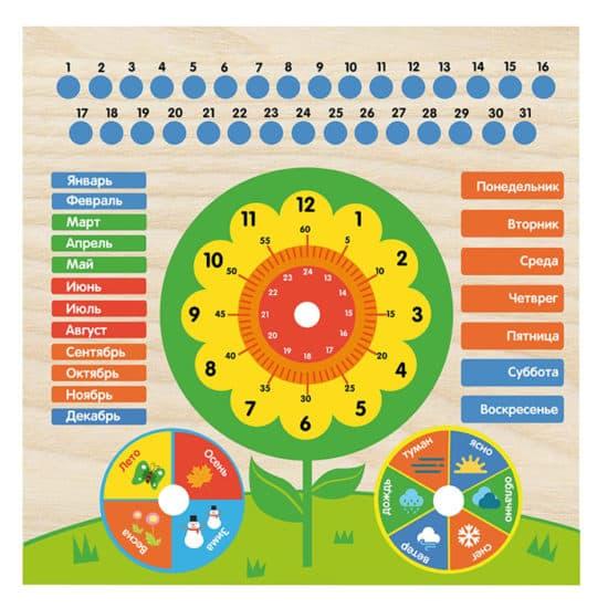 Календарь с часами: Цветочек ИГ0200