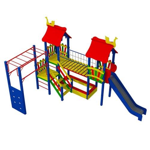 Детский уличный Игровой комплекс ДК-20 СКИ 102