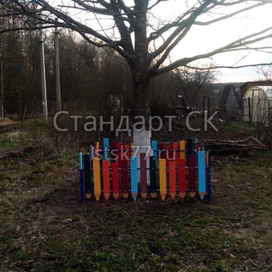 ограждение детских площадок карандаши
